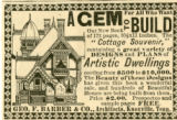 "Barber.  Geo. F. Barber ad for ""Cottage Souvenir."""