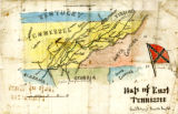 Map of East Tennessee, 1863