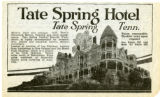 Tate Spring Hotel advertisement