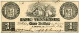 Bank of Tennessee 1861 Currency