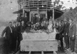 Casket aboard the Annabell King, 1911.