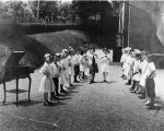 Bell House School group with gramophone