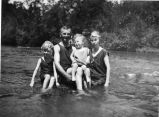 Cole family, swimming ca. 1922
