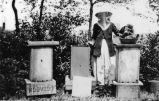 Leake family member with bees, ca. 1915