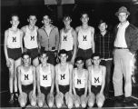 Mascot School boys basketball team, 1949-1950