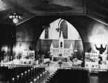 Harris -Moses wedding at Immaculate Conception Church, 1937.