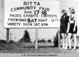 Ritta Community Fair sign, 1961