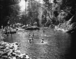 Camp LeConte swimming hole, 1924