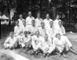 Camp LeConte. Mr. Gore and staff, 1924.