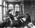Unidentified house, sunroom.