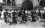 Police on motorcycles, 1926