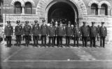 Police in front of Market House, [1926]
