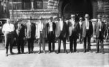 Unidentified group of men in front of Market House, [1926]