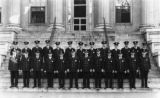 Police on steps of Knoxville City Hall, 1927