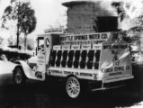Whittle Springs Water Co. truck
