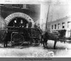 Knoxville Fire Department first ladder wagon, ca. 1876