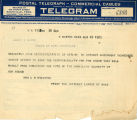 Burn. Telegram against ratification.