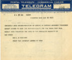 Burn.  Mrs. L.S. Robinson telegram opposed to ratification.
