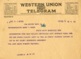 Burn.  Mrs. John Balch telegram opposed to ratification.