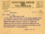 Burn.  Telegram in suppport of ratification.