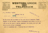 Burn.  Mrs. D.B. Henderson telegram against ratification.