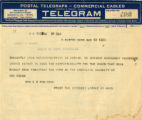Burn.  Mrs. L.S. Robinson telegram against ratification.