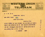 Burn.  B.J. Hornsby telegram against ratification.