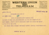 Burn.  Mrs. Horace Brock telegram against ratification.