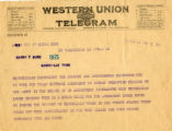 Burn.  Telegram in support of ratification.