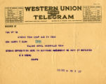 Burn.  S.G. Brown telegram opposed to ratification.