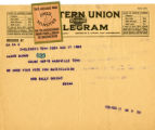 Burn. Mrs. Sally Brient telegram in support of ratification.