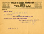 Burn.  Mrs. Childress et al. telegram in support of ratification.