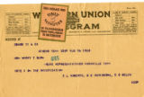Burn.  E.L. Roberts et al. telegram in support of ratification.