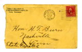 Envelope to Harry Burn, [from...