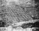 1871 Bird's-eye view of Knoxville