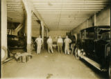 Automobile garage interior, 1920s