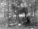 Hall. James and Margaret Hall, Chestnut Hunting, Oct. 1894.